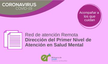 Red provincial de atención y acompañamiento remoto en Salud Mental del Primer Nivel de Atención
