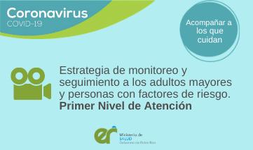 Estrategia de monitoreo al adulto mayor y a personas con factores de riesgo