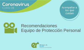 Recomendaciones Equipos de Protección Personal