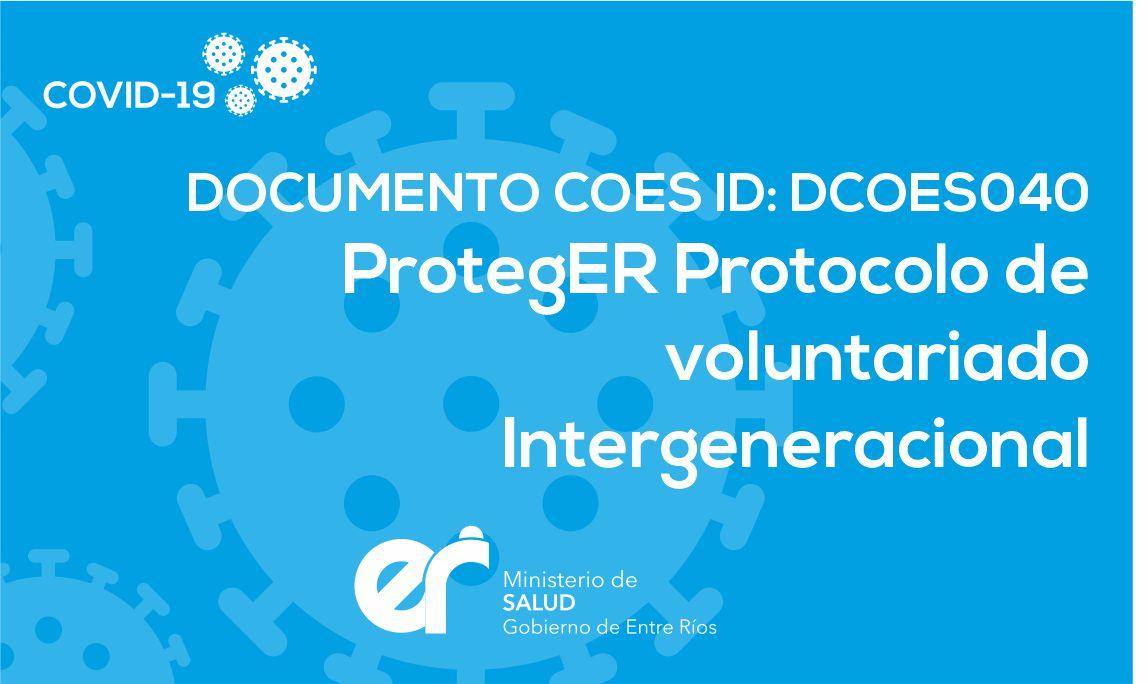 DCOES040 ProtegER Protocolo de voluntariado Intergeneracional