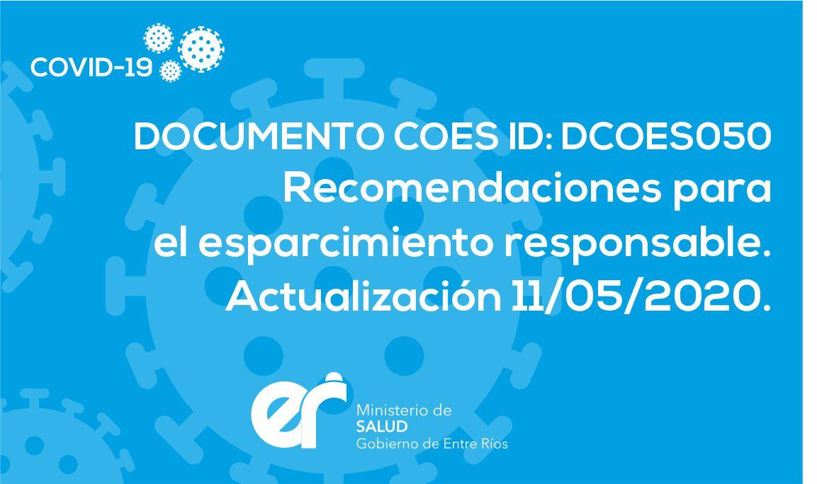 DCOES050 Recomendaciones para el esparcimiento responsable.
