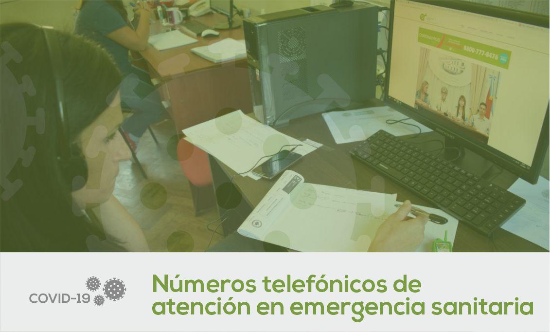 Números Telefónicos de Atención en la Emergencia Sanitaria
