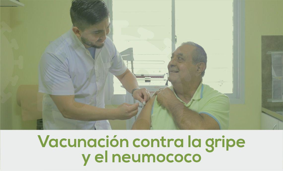 Vacunación contra la gripe y el neumococo