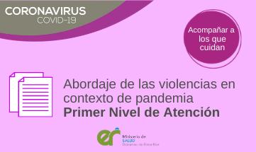 Abordaje de las violencias en contexto de pandemia