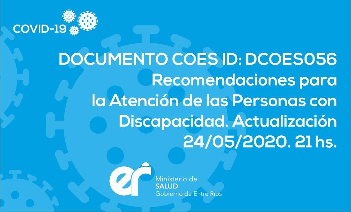 DCOES056: Recomendaciones para la Atención de las Personas con Discapacidad.