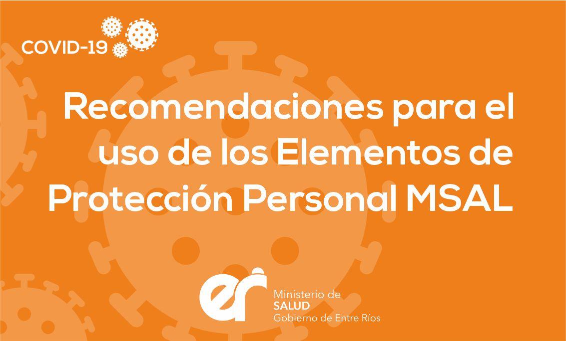 Recomendaciones Uso de Elementos de Protección Personal MSAL