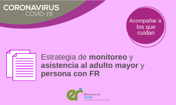 «Estrategia de monitoreo y asistencia al adulto mayor y persona con factores de riesgo»