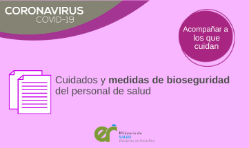 Cuidados y medidas de bioseguridad del personal de salud.